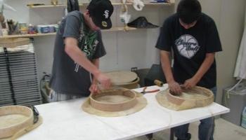 Assembling hand drum